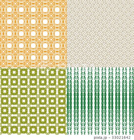 Set of  geometric pattern in op art design. Vectorのイラスト素材 [33021642] - PIXTA