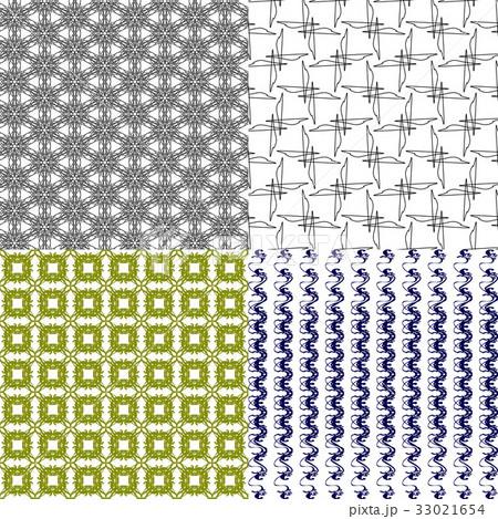 Set of  geometric pattern in op art design. Vectorのイラスト素材 [33021654] - PIXTA