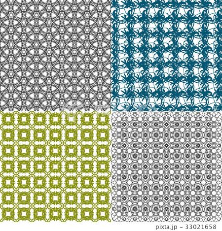 Set of  geometric pattern in op art design. Vectorのイラスト素材 [33021658] - PIXTA