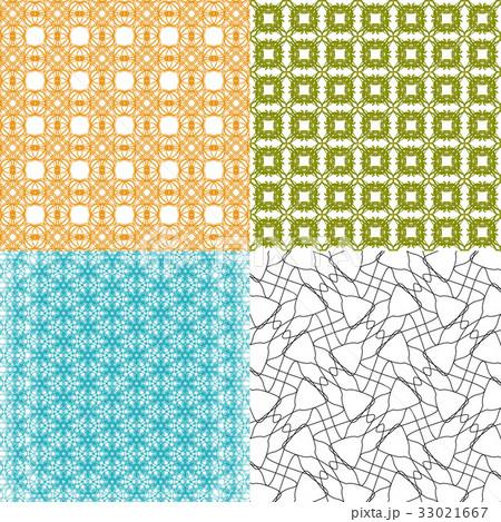 Set of  geometric pattern in op art design. Vectorのイラスト素材 [33021667] - PIXTA