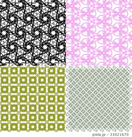 Set of  geometric pattern in op art design. Vectorのイラスト素材 [33021670] - PIXTA