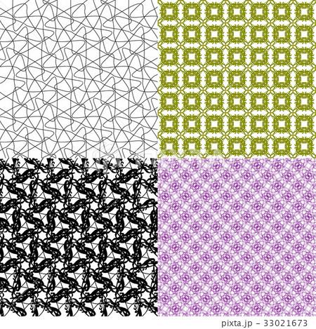 Set of  geometric pattern in op art design. Vectorのイラスト素材 [33021673] - PIXTA