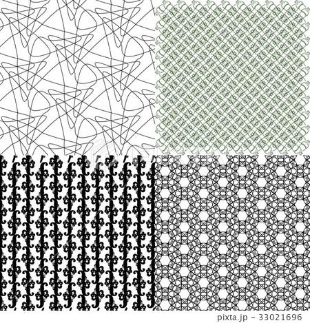 Set of  pattern. Modern stylish texture. Repeatingのイラスト素材 [33021696] - PIXTA
