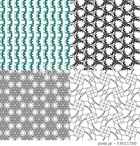 Set of  pattern. Modern stylish texture. Repeatingのイラスト素材 [33021700] - PIXTA