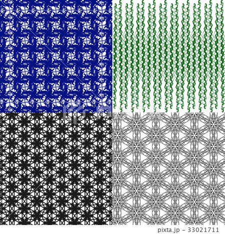 Set of  pattern. Modern stylish texture. Repeatingのイラスト素材 [33021711] - PIXTA