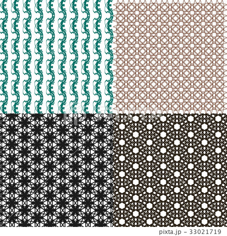 Geometric patterns, tiling. Set of vector abstractのイラスト素材 [33021719] - PIXTA