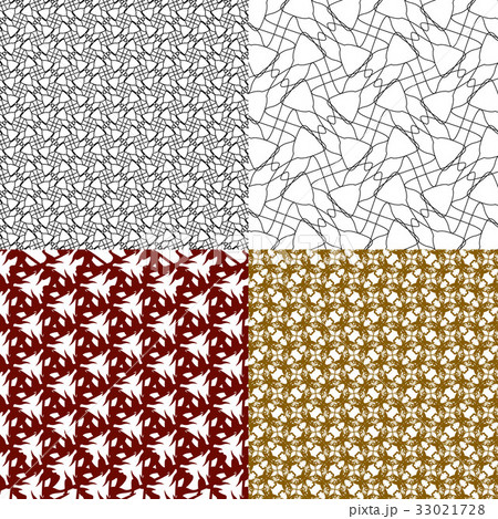 Geometric patterns, tiling. Set of vector abstractのイラスト素材 [33021728] - PIXTA