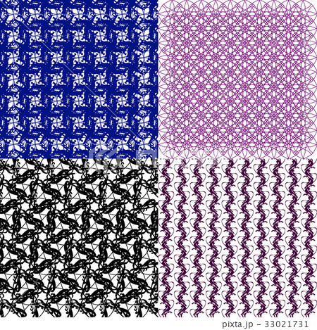 Geometric patterns, tiling. Set of vector abstractのイラスト素材 [33021731] - PIXTA