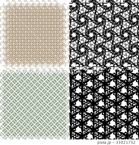 Geometric patterns, tiling. Set of vector abstractのイラスト素材 [33021732] - PIXTA