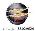 秋刀魚 さんま 塩焼きのイラスト 33029629