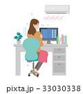 エアコン 女性 33030338