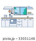 キッチン 台所 インテリアのイラスト 33031146