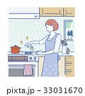 清潔 女性 掃除のイラスト 33031670