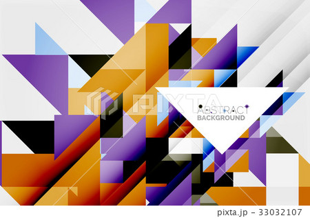 Triangle pattern design backgroundのイラスト素材 [33032107] - PIXTA