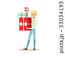 ギフト プレゼント 贈り物のイラスト 33034193