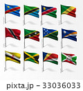 Collection of flags of world on flagpole 33036033
