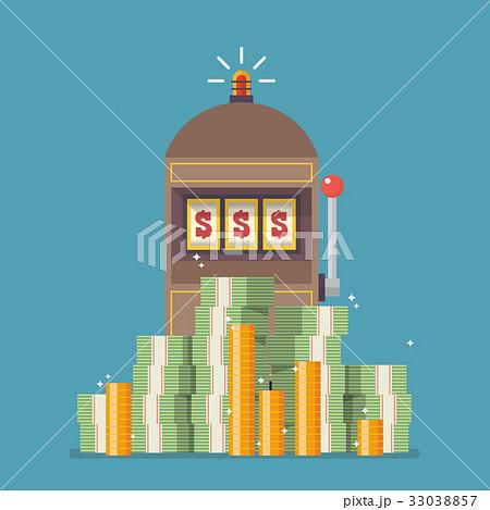 Slot machine jackpot with a lot of money 33038857