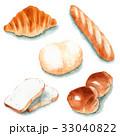 パン 水彩 バターロールのイラスト 33040822