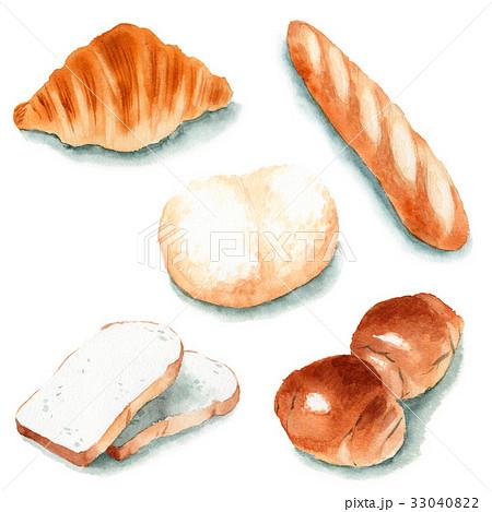 食パン・バターロール・バゲット・クロワッサン・白パン 33040822