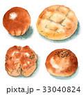 パン 水彩 菓子パンのイラスト 33040824