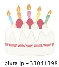 ホールケーキ 誕生日ケーキ バースデーケーキのイラスト 33041398