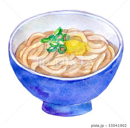 水彩イラスト 食品 うどんのイラスト素材 33041902 Pixta