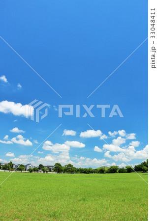 青空と新緑の公園 33048411