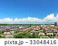 夏の青空と綺麗なニュータウン 33048416