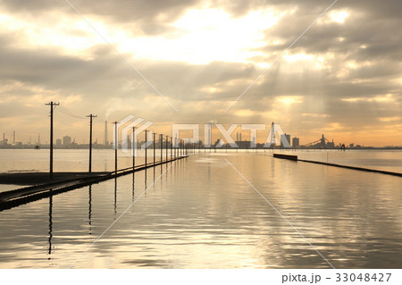 千葉県 夕暮れの江川海岸 33048427