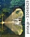 亀岩の洞窟 光 光芒の写真 33048429