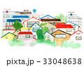 家 住宅地 町のイラスト 33048638