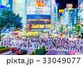 東京 渋谷 スクランブル交差点の夜景 33049077