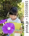 朝顔の観察日記をつける子供 33050865