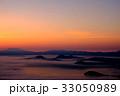朝焼け 屈斜路湖 雲海の写真 33050989