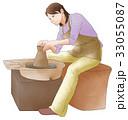 陶芸する女性 33055087