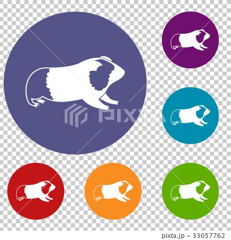 Hamster icons set 33057762
