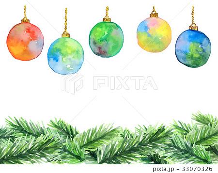 クリスマスオーナメントのイラスト素材 33070326 Pixta