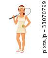 テニス 選手 ベクトルのイラスト 33070799