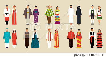 Collection of national costumes 33071081