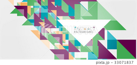 Triangle pattern design backgroundのイラスト素材 [33071837] - PIXTA