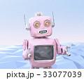 ピンク色のローポリスタイルレトロロボットのイメージ 33077039