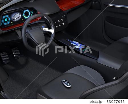 運転席シートに置いてあるスマートエントリーキー 33077055