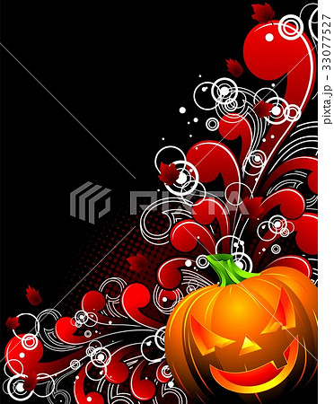 vector illustration on a halloween themeのイラスト素材 33077527