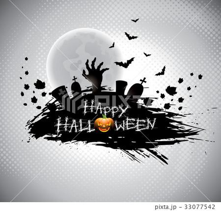 Vector illustration on a Halloween theme.のイラスト素材 [33077542] - PIXTA