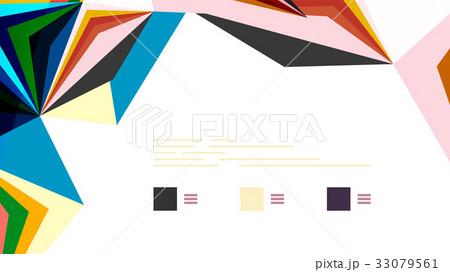 Modern triangle presentation templateのイラスト素材 [33079561] - PIXTA