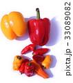 赤パプリカ、黄パプリカ、ミニカラーピーマン 33089082