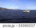 2月 雪の知床半島と漁船 -冬の北海道- 33090337