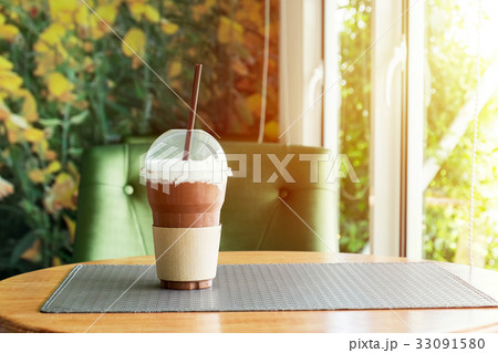 Chocolate Smoothie on the table, refreshment の写真素材 [33091580] - PIXTA