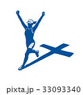 Female Marathon Runner Cross Shadow 33093340