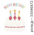 誕生日ケーキ バースデーケーキ バースデーカードのイラスト 33096872